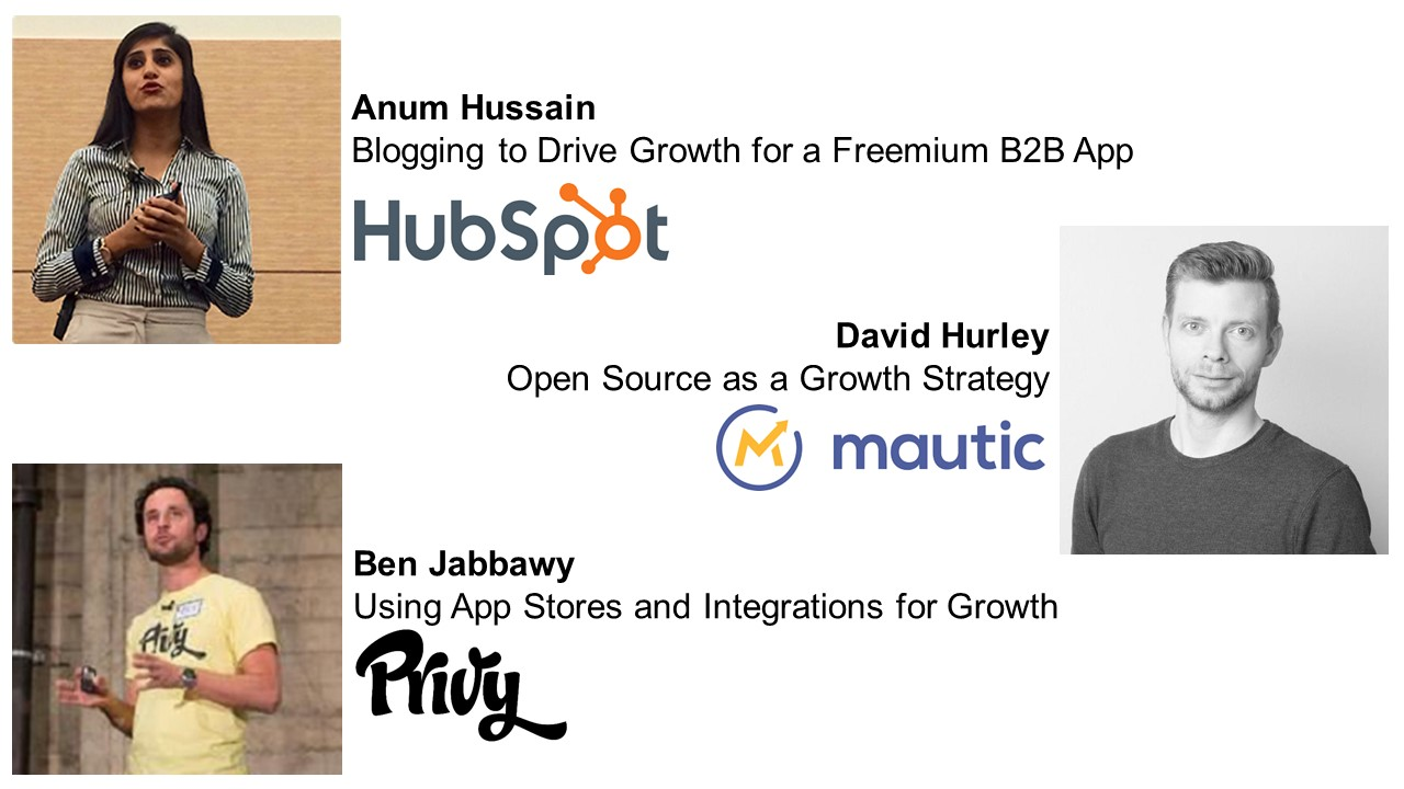 Growth Camp Speakers - Anum Hussain, David Hurley, Ben Jabbawy