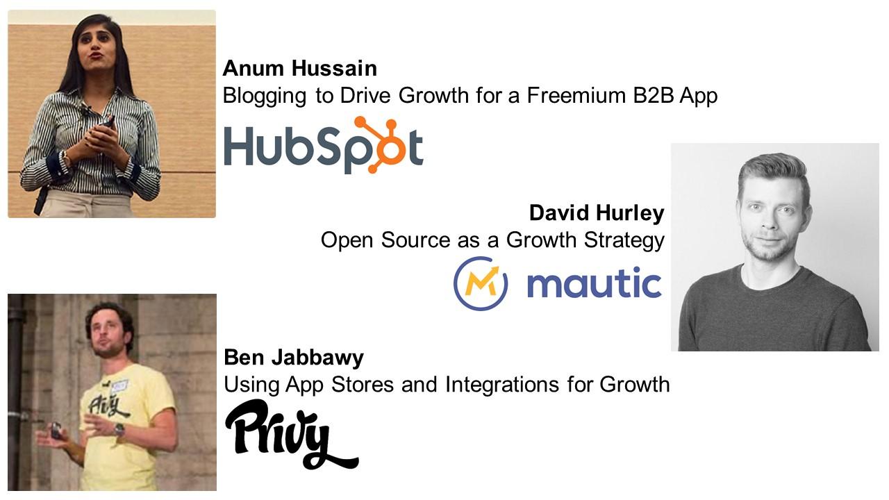 Growth Camp Speakers - Anum Hussain, David Hurley, Ben Jabbawy