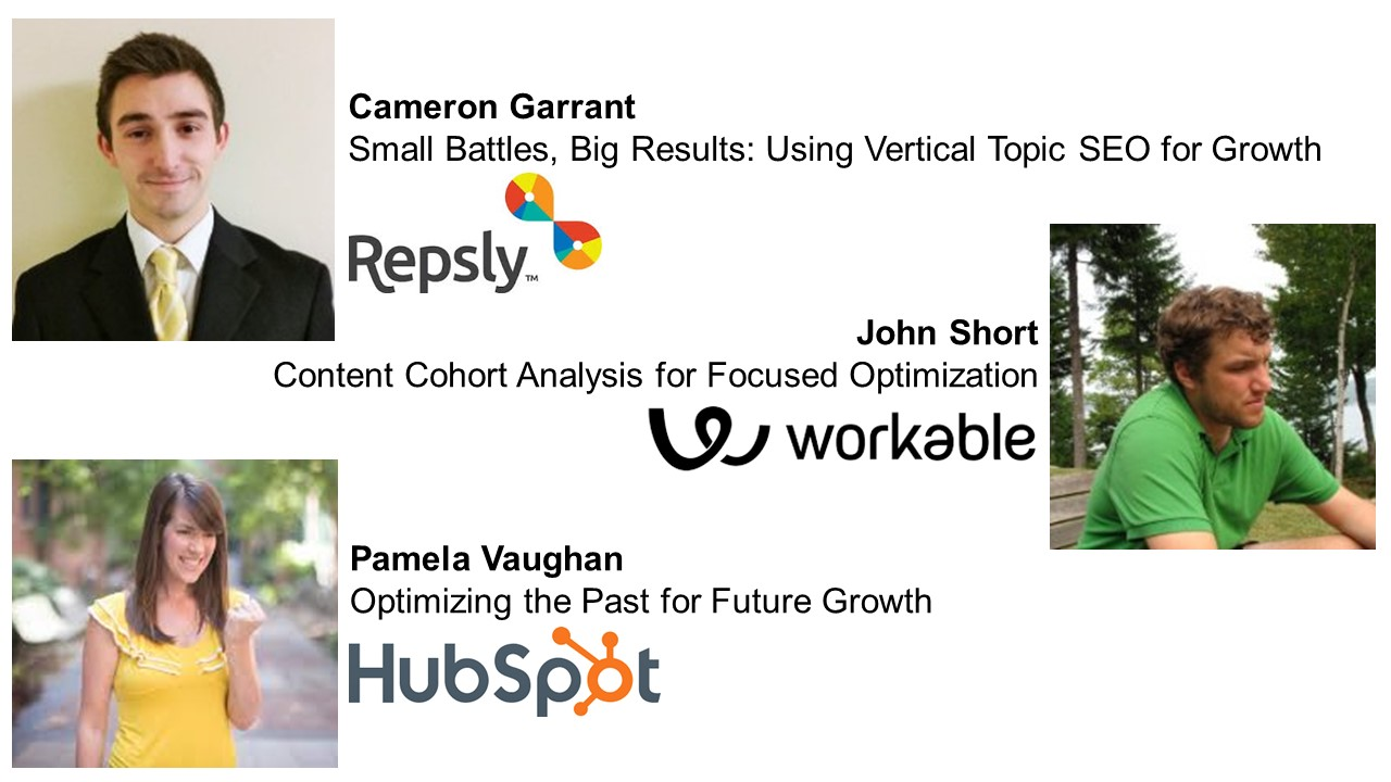 Growth Camp Speakers - Cameron Garrant, John Short, Pamela Vaughan